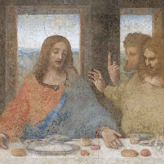 Last Supper Leonardo da Vinci, detail